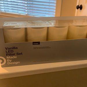 Vanilla LED Pillar Set